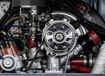 Motorraum eines VW Campers